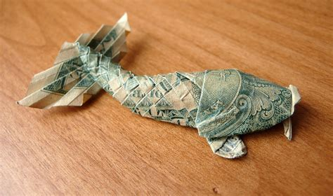 Origami Dollar Koi - you should definitely give a carp about these beautiful
