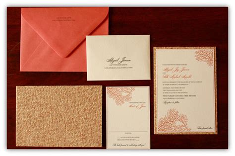 coral and gold wedding invitations top 10 coral wedding invitations