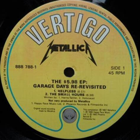 Garage Days Re Revisited by The 5 98 E P Garage Days Re Revisited 1987 Metallica