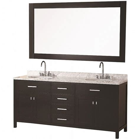 home depot design element vanity design element london 72 in w x 22 in d vanity in espresso with marble vanity top in carrara