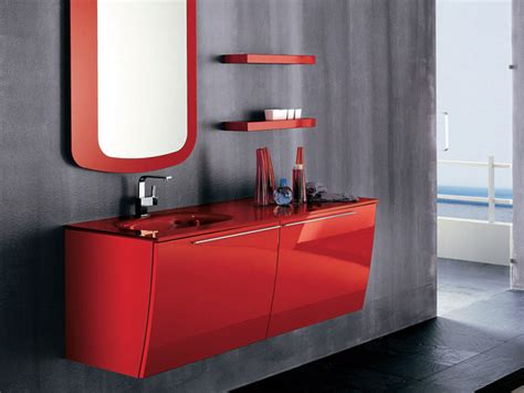 pictures of red bathrooms modern red bathroom furniture by artesi digsdigs