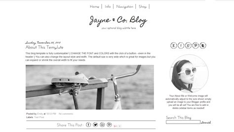 blog design ideas simple blogger template black and white blog design