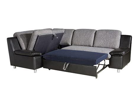 Incroyable Canape Convertible En Solde #4: canape-d-angle-convertible-droit-design-cuir-pu-noir-et-tissu-gris-renato.jpg