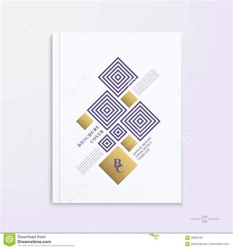 booklet cover layout abstract vector brochure booklet book or report cover