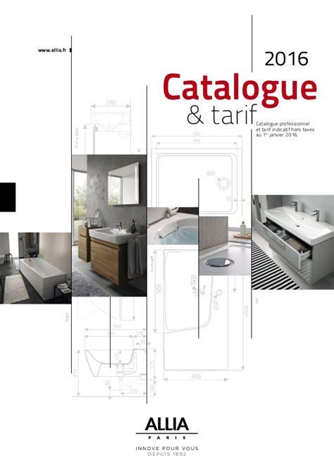 Tarif Salle De Bain by Catalogue Tarif Allia 2016 Salle De Bains