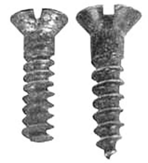 Handmade Screws - system for dating country and primitive furniture part