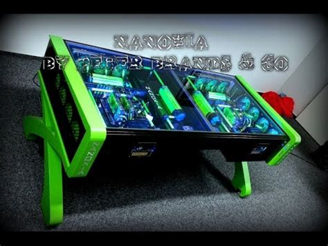 how to make a gaming desk ultimate custom watercooled gaming desk pc mod