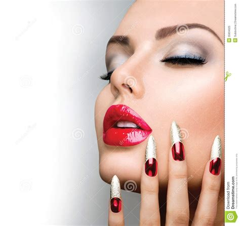 Nail Modele by Fashion Model Stock Image Image Of Manicured
