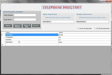 Phone Book Search Telephone Directory System With Live Search Free Source Code Tutorials And Articles