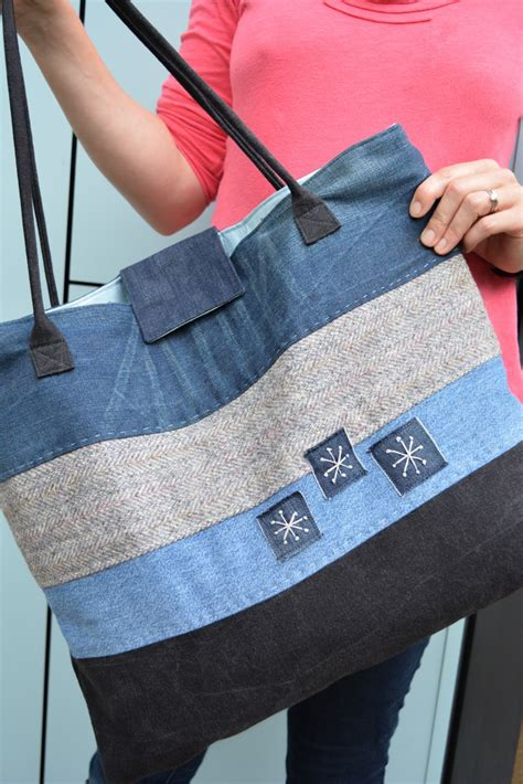 Free Pattern For Jeans Bag | how to make a large denim tote bag denim tote bags