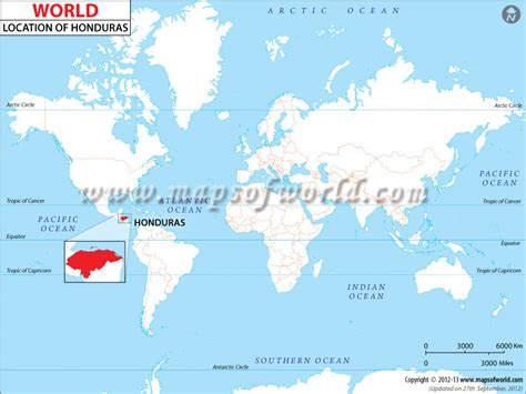 honduras located location map  honduras