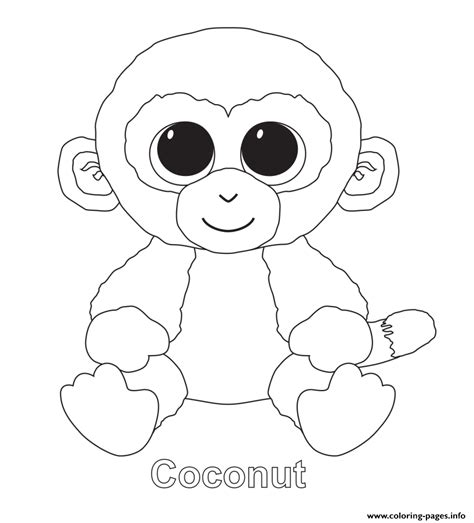 beanie boo coloring pages coconut beanie boo coloring pages printable
