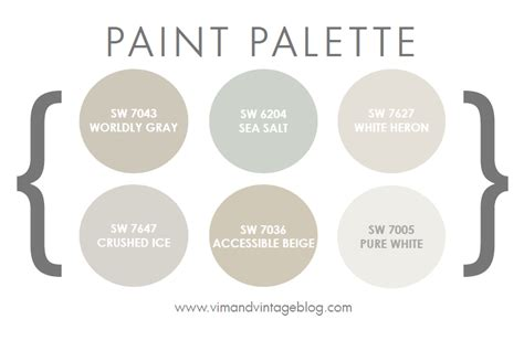 paint colors vim vintage design style