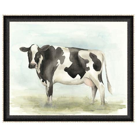 Watercolor Cow II Framed Print