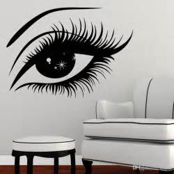 Eye Wall Stickers Eyelashes Wall Sticker Vinyl Decal Eye Makeup Interior
