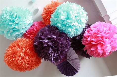 How To Make Decorations With Paper - how to diy paper pom tutorial decorations that impress