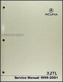 how to download repair manuals 2001 acura tl user handbook 1999 2001 acura 3 2 tl repair shop manual original