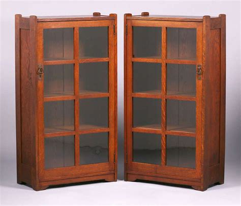 stickley bookcase for sale pair stickley brothers narrow one door bookcases