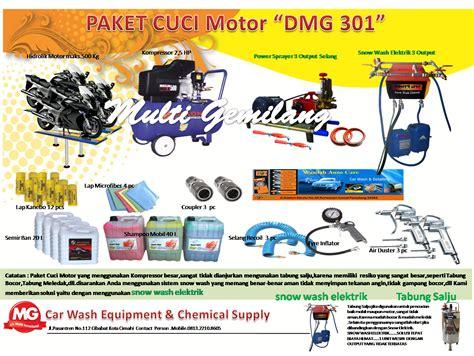 Alat Cuci Motor Murah Di Bandung paket cucian motor 3 hidrolik peralatan cuci mobil dan