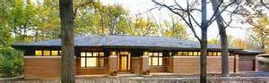 Frank Lloyd Wright Inspired House Plans New Prairie Style Ranch Modern Exterior Chicago By