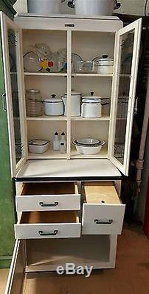 Rare Junior Hoosier Cabinet Glass Front Doors, Bread