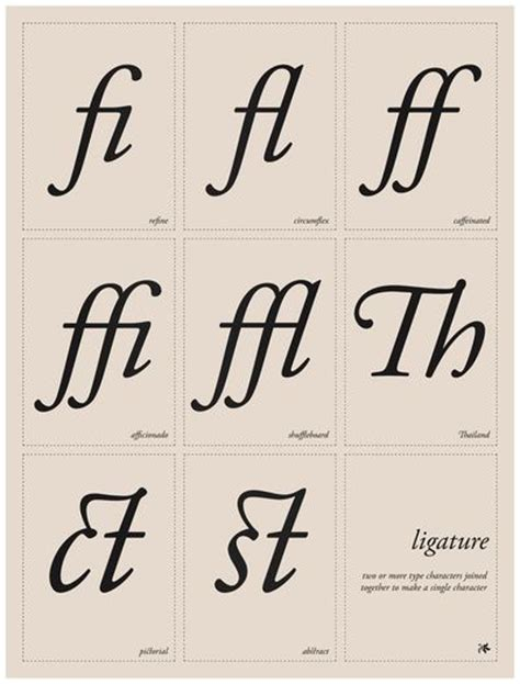 typography ligature ligature by tom davie typography type typography