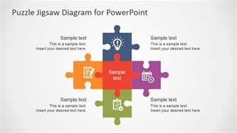 Powerpoint Jigsaw Puzzle Template Free by Free Flat Puzzle Jigsaw Powerpoint Diagram Slidemodel