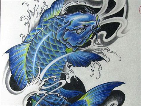 tattoo art koi fish blue and black koi fish tattoo google search art ink