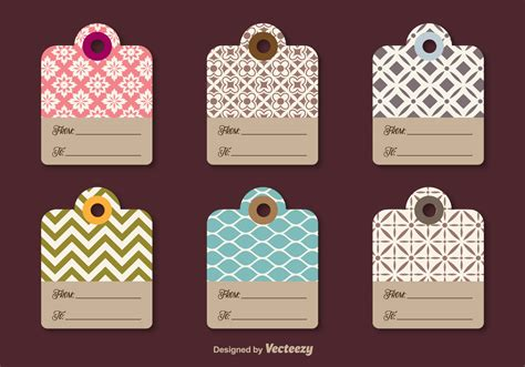 printable decorative gift tags decorative gift labels download free vector art stock