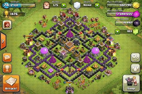 layout coc th8 layouts hack tool mobile game and clash of clans