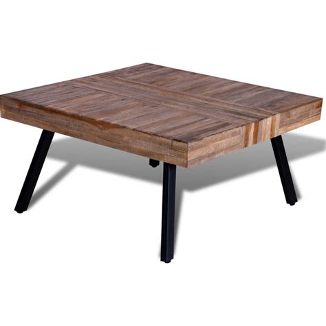 reclaimed teak wood square coffee table 80cm buy sale