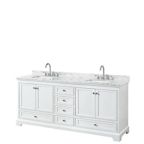 80 double sink bathroom vanity shop wyndham collection deborah white undermount double
