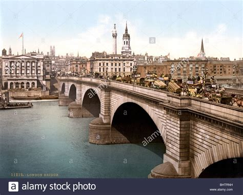 photochrome print c1890s of the old london bridge over the - Old Boat London Bridge
