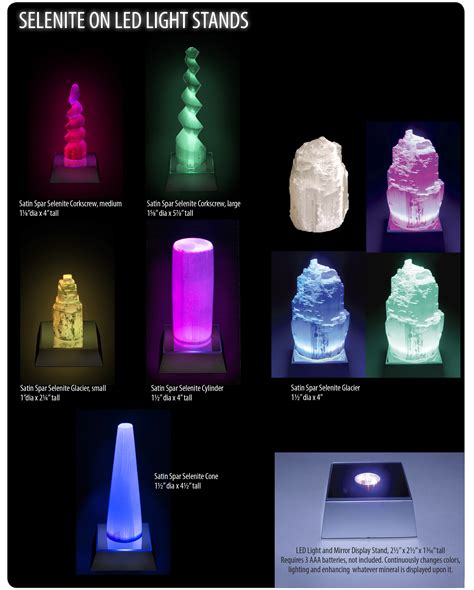 Wholesale Home Decor Trade Shows by Selenite On Led Light Stands Squire Boone Village