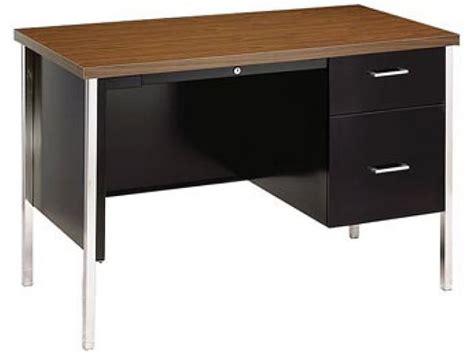 Teachers Desk by Steel Single Pedestal Teachers Desk Ecd 24a Office Desks