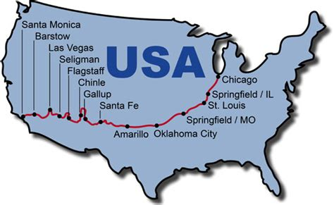 map of route 66 usa motorcycle tours route 66 bike tour
