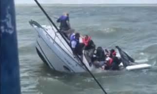 lake erie boating boat sinks as passengers are sent swimming in lake erie
