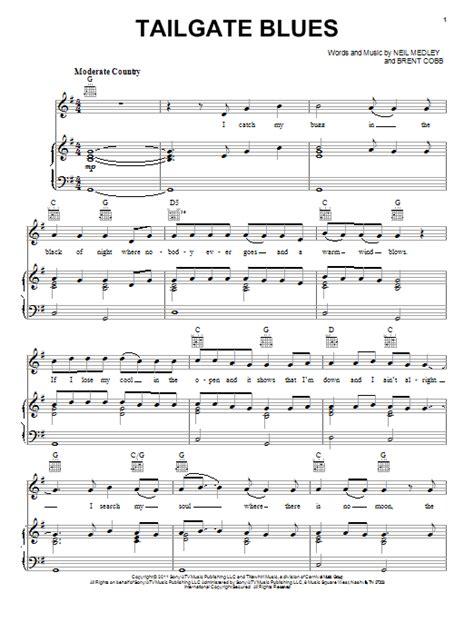 luke bryan guitar chords tailgate blues sheet music direct