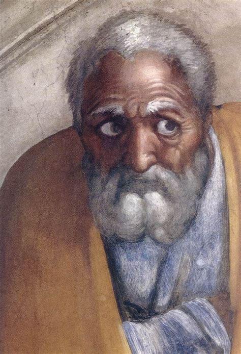 what color is jesus michelangelo buonarroti 1475 1564 sistine chapel