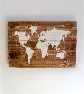 World Map On Wood by World Map Art Wood Images