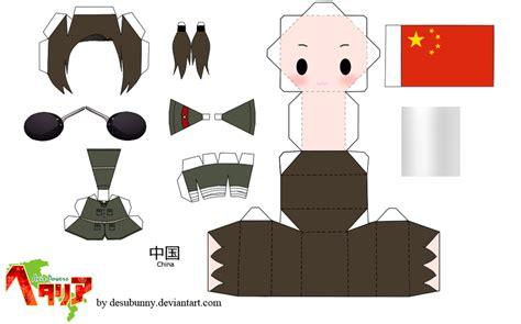 Hetalia Papercraft - hetalia china papercraft by tsunyandere on deviantart