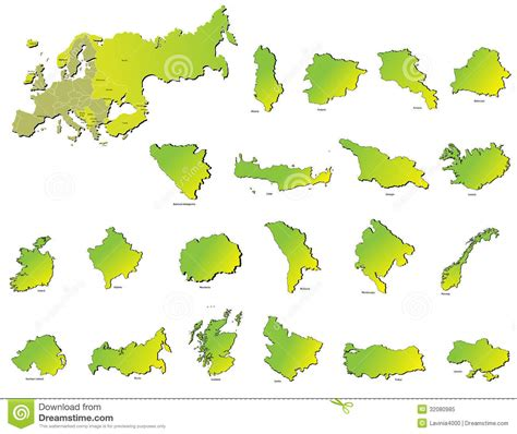 royalty free map europe countries maps stock vector image of design