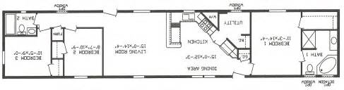 Single Wide Mobile Homes Floor Plans Mobile Homes Single Wide Floor Plans House Design Ideas