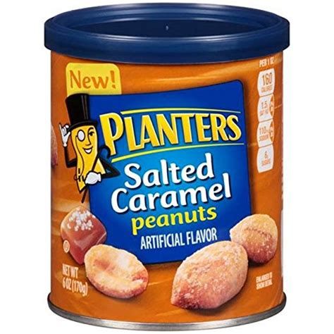 Salted Caramel Peanuts Planters by Planters Peanuts Salted Caramel 6 Oz Food Beverages