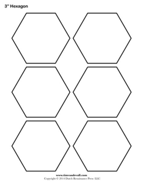 3 inch hexagon template tim de vall comics printables for