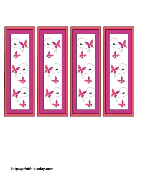 printable butterfly bookmarks mother s day bookmarks