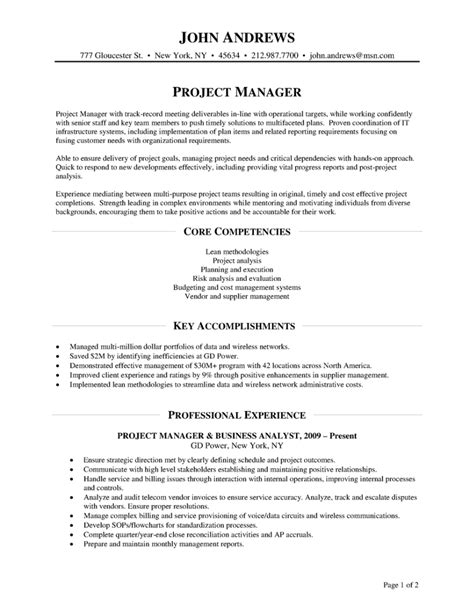 project manager cover letter sample pdf