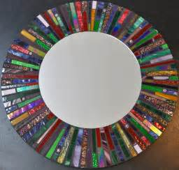 Mirror Mosaic Vase Mosaic Stained Glass Mirror 24 Diameter By