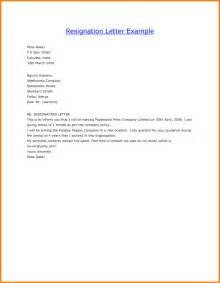 Resignation Letter Templates by Resignation Letter Template All Form Templates