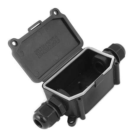 Junction Box 80x80x45 Black ip65 waterproof outdoor 2 way pg9 gland electrical junction box black l2p9 ebay